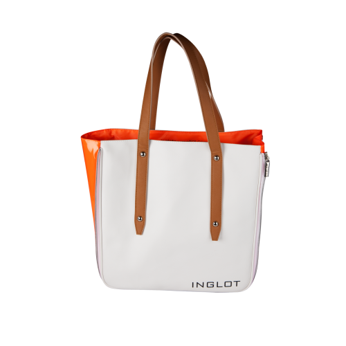 Shopping Bag White & Orange