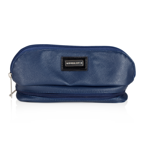 Cosmetic Bag Dark Blue With Mirror