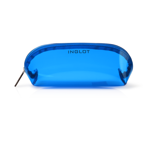 Cosmetic Bag Transparent Dark Blue