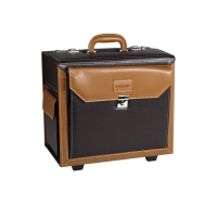 Makeup Briefcase With Wheels Brown (KC-PL16)